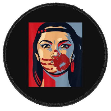 Awareness Indigenous Woman Art Stolen Sisters Round Patch Designed By Mrt90