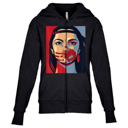 Awareness Indigenous Woman Art Stolen Sisters Youth Zipper Hoodie Designed By Mrt90
