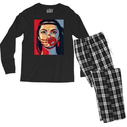 Awareness Indigenous Woman Art Stolen Sisters Men's Long Sleeve Pajama Set Designed By Mrt90
