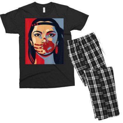 Awareness Indigenous Woman Art Stolen Sisters Men's T-shirt Pajama Set Designed By Mrt90