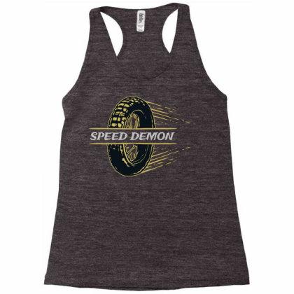 Speed Demonz Racerback Tank Designed By Chiks