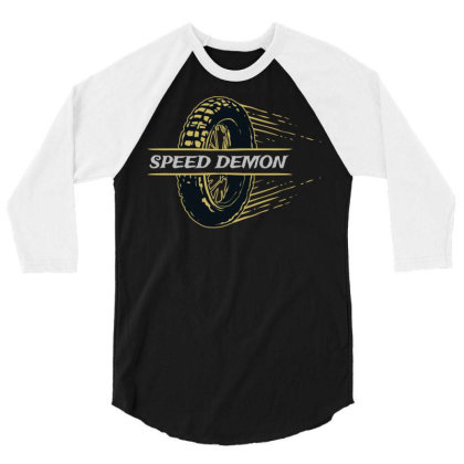 Speed Demonz 3/4 Sleeve Shirt Designed By Chiks