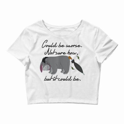 Winnie The Pooh Eeyore Could Be Worse Crop Top Designed By Schulz-12