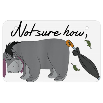 Winnie The Pooh Eeyore Could Be Worse Atv License Plate Designed By Schulz-12