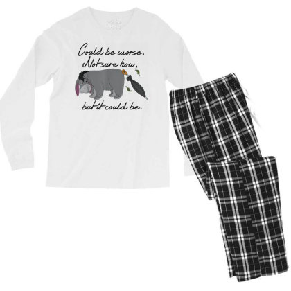Winnie The Pooh Eeyore Could Be Worse Men's Long Sleeve Pajama Set Designed By Schulz-12