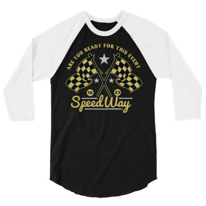 Speedway 3/4 Sleeve Shirt Designed By Chiks