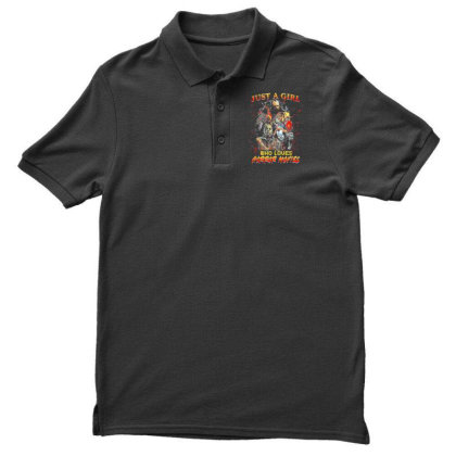 Just A Girl Who Loves Horror Movies Halloween Men's Polo Shirt Designed By Mrt90