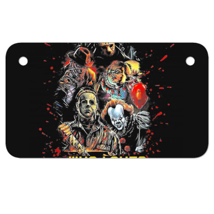 Just A Girl Who Loves Horror Movies Halloween Motorcycle License Plate Designed By Mrt90