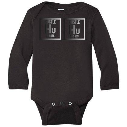 Hustle Harder Neon Long Sleeve Baby Bodysuit Designed By Bettercallsaul