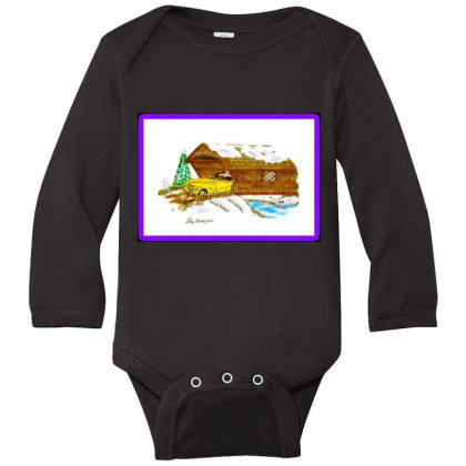 1940 Desoto Long Sleeve Baby Bodysuit Designed By Old Mill Studio