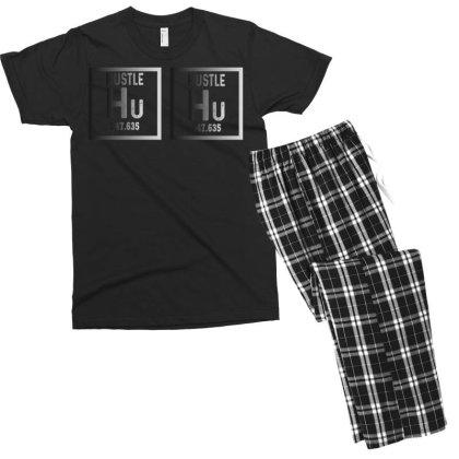Hustle Harder Neon Men's T-shirt Pajama Set Designed By Bettercallsaul