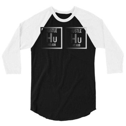 Hustle Harder Neon 3/4 Sleeve Shirt Designed By Bettercallsaul