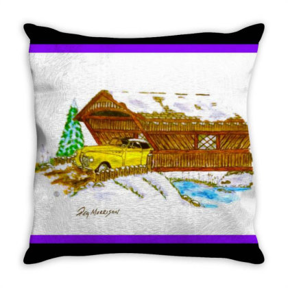 1940 Desoto Throw Pillow Designed By Old Mill Studio