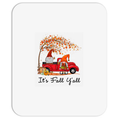 It's Fall Y'all Cute Gnomes Pumpkin Autumn Tree Fall Leaves Mousepad Designed By Mrt90