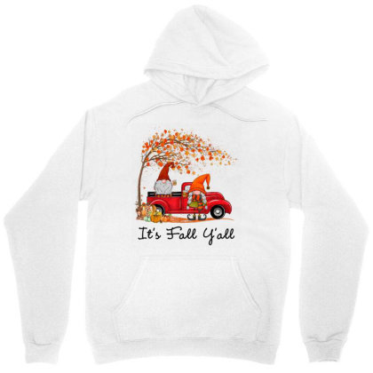 It's Fall Y'all Cute Gnomes Pumpkin Autumn Tree Fall Leaves Unisex Hoodie Designed By Mrt90
