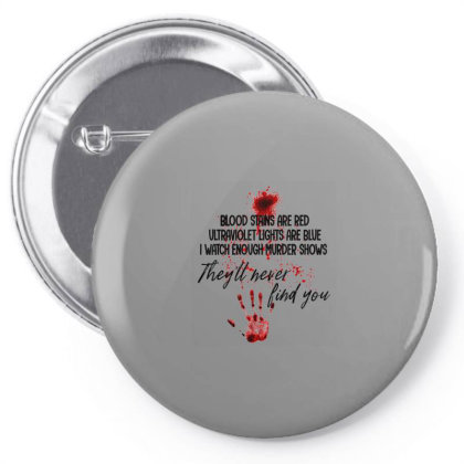 Blood Stains Are Red Ultraviolet Lights Are Blue Hand Blood Pin-back Button Designed By Mrt90