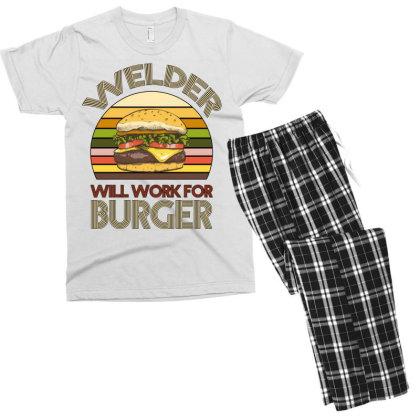 Welder Wıll Work For Burger Men's T-shirt Pajama Set Designed By Bettercallsaul