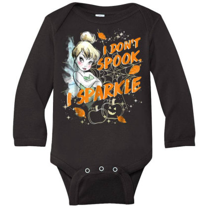 Peter Pan Tinkerbell Halloween Sparkle Long Sleeve Baby Bodysuit Designed By Schulz-12