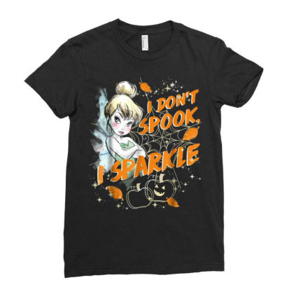 Peter Pan Tinkerbell Halloween Sparkle Ladies Fitted T-shirt Designed By Schulz-12