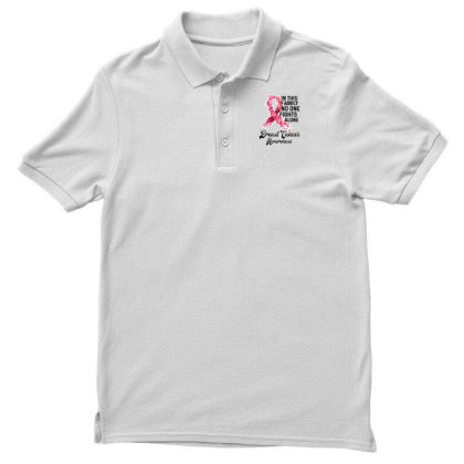 In This Family Fights Alone Breast Cancer Awareness Men's Polo Shirt Designed By Bettercallsaul
