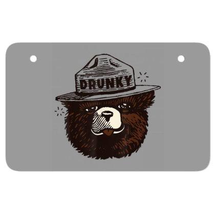Drunky The Bear Atv License Plate Designed By Mrt90