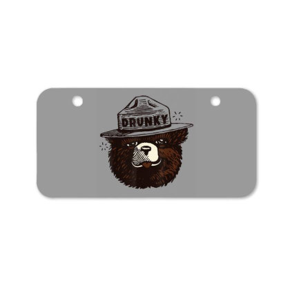 Drunky The Bear Bicycle License Plate Designed By Mrt90