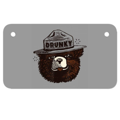 Drunky The Bear Motorcycle License Plate Designed By Mrt90