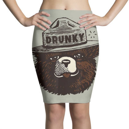 Drunky The Bear Pencil Skirts Designed By Mrt90