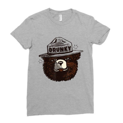 Drunky The Bear Ladies Fitted T-shirt Designed By Mrt90