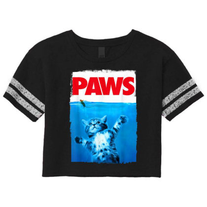 Paws Cat And Mouse Top, Cute Funny Cat Lover Parody Scorecard Crop Tee Designed By Schulz-12