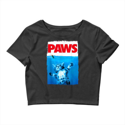 Paws Cat And Mouse Top, Cute Funny Cat Lover Parody Crop Top Designed By Schulz-12