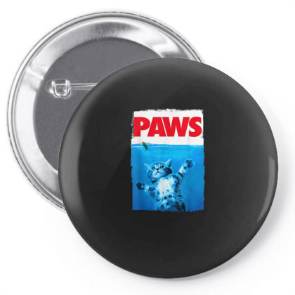 Paws Cat And Mouse Top, Cute Funny Cat Lover Parody Pin-back Button Designed By Schulz-12