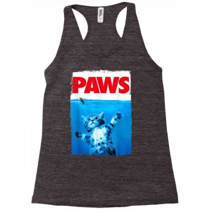 Paws Cat And Mouse Top, Cute Funny Cat Lover Parody Racerback Tank Designed By Schulz-12