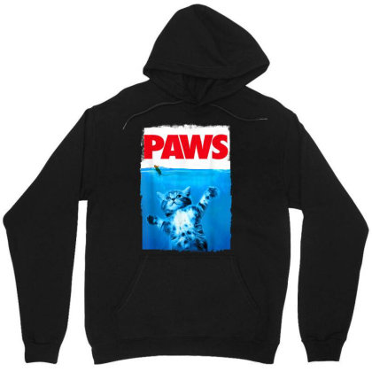 Paws Cat And Mouse Top, Cute Funny Cat Lover Parody Unisex Hoodie Designed By Schulz-12