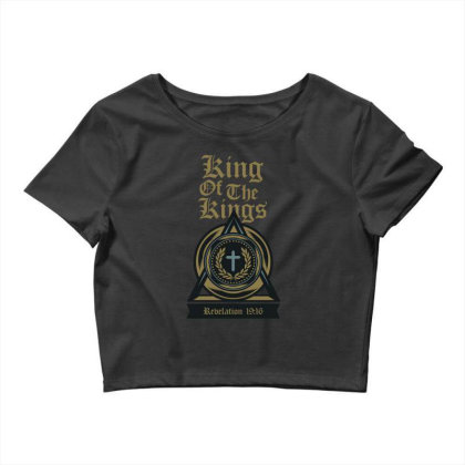 King Of The Kings Crop Top Designed By Chiks