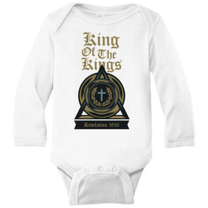 King Of The Kings Long Sleeve Baby Bodysuit Designed By Chiks