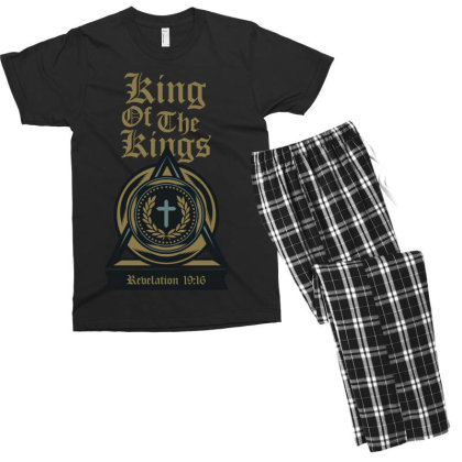King Of The Kings Men's T-shirt Pajama Set Designed By Chiks