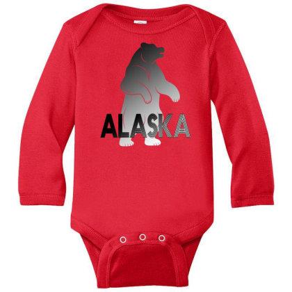 Alaska Bear Long Sleeve Baby Bodysuit Designed By Bettercallsaul