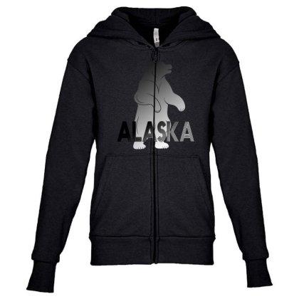 Alaska Bear Youth Zipper Hoodie Designed By Bettercallsaul