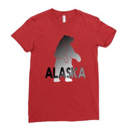 Alaska Bear Ladies Fitted T-shirt Designed By Bettercallsaul