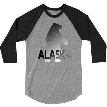 Alaska Bear 3/4 Sleeve Shirt Designed By Bettercallsaul