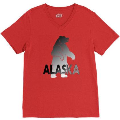 Alaska Bear V-neck Tee Designed By Bettercallsaul