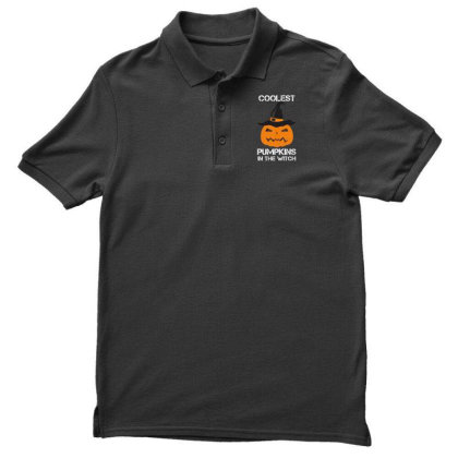Coolest Pumpkin In The Witch Halloween Men's Polo Shirt Designed By Amber Petty