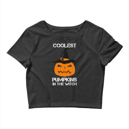 Coolest Pumpkin In The Witch Halloween Crop Top Designed By Amber Petty