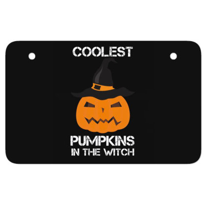 Coolest Pumpkin In The Witch Halloween Atv License Plate Designed By Amber Petty