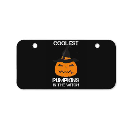 Coolest Pumpkin In The Witch Halloween Bicycle License Plate Designed By Amber Petty