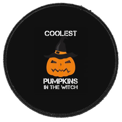 Coolest Pumpkin In The Witch Halloween Round Patch Designed By Amber Petty