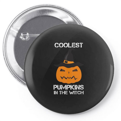 Coolest Pumpkin In The Witch Halloween Pin-back Button Designed By Amber Petty