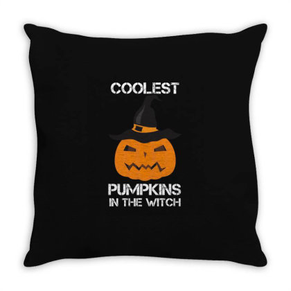 Coolest Pumpkin In The Witch Halloween Throw Pillow Designed By Amber Petty