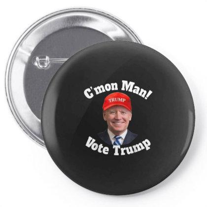 C'mon Man Biden Votes Trump Pin-back Button Designed By Kakashop